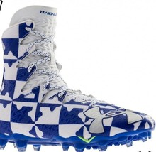 Under Armour Highlight MC Lacrosse / Football Cleats White/Blue Size 16 NWT - $33.28