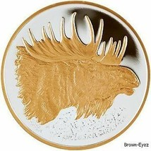 Alaska Mint  MOOSE Gold Silver Medallion Proof 1Oz - $108.78
