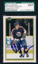 1990-91 Bowman #135 Fredrik Olausson Winn Jets JSA Auto - $19.75