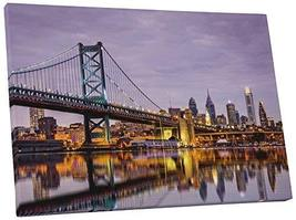 "Pingo World 0830QMQL8K4 ""Philadelphia Night Skyline"" Gallery Wrapped Can... - $138.55"
