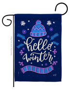 Hello Winter - Impressions Decorative Garden Flag G135258-BO - $19.97