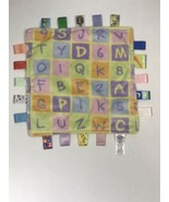 Taggies Baby Yellow ABC's & 123's Infant Taggies Blankie Lovey Security ... - $18.61