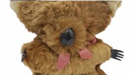 "Vtg Genuine Fur Stuffed Made Australia Australian Koala Bear 11"" Plush Joey Cub image 2"