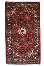Hand made vintage Persian Hamadan rug 2.4' x 4.3' ( 75cm x 132cm ) 1970s... - $510.00