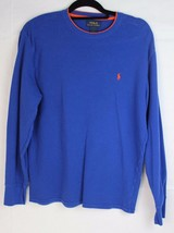 POLO Ralph Lauren youth boys top tshirt long sleeve blue cotton size L/G/G - $13.33