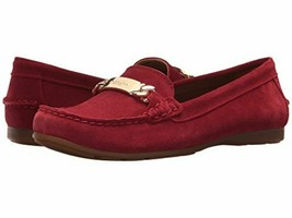 Coach Olive drive Suede Loafers NIB red - $89.99
