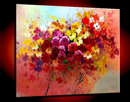 Oil Painting Abstract Modern Original Landscape... - $320.00
