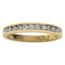 0.30 Carat Ladies Round Cut Diamond Wedding Band Ring 10K Yellow Gold - $345.51