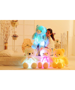 LED Flash Teddy Bear Stuffed Animals Colorful Plush Baby Toy Christmas G... - $19.99