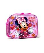 NEW! Girls Lunch Bag Insulated with Shoulder Strap Disney Minnie Mouse 9... - €19,37 EUR