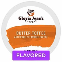 Gloria Jean's Coffees Butter Toffee, Single Serve Coffee K-Cup Pod, Flavored Cof - $32.61