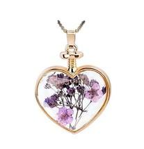 2 Pieces Of Creative Purple Flower Specimens Pendant For Wishing Bottle Necklace