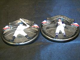 Hallmark Handcrafted Ornaments Baseball Heroes Satchel Paige and Lou Gehrig AA-1 image 4