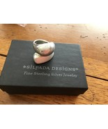 Silpada Sterling Silver Dual Textured Brushed & Polished Wrap Ring Size ... - $62.20