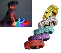 Speckled Adjustable LED Dog Collar (Red, Small) - $24.44