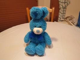 Aurora people pals RARE blue turquoise bunny rabbit stuffed animal bean beans - $16.01