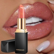 Handaiyan Waterproof Shimmer Gold Pink Lipstick New - $14.99