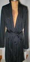NWT New Designer Natori Short Wrap Robe Womens S Silky Sexy Belt Black S... - $123.50