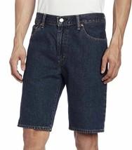 Levi's 505 Men's Premium Cotton Regular Fit Dark Denim Stonewash Shorts 505-2114 image 1