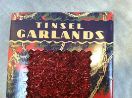 Red Tinsel Garland for Christmas Tree Decoration - 9ft - in vintage look box image 2