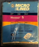 Hoover Type S Microlined Vacuum Cleaner Bags (3) Futura Spectrum Windtun... - $3.55