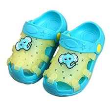 Kids Sandals In/Outdoor Toddler Clogs Shoes/Light Blue Elephant 14.5CM Length