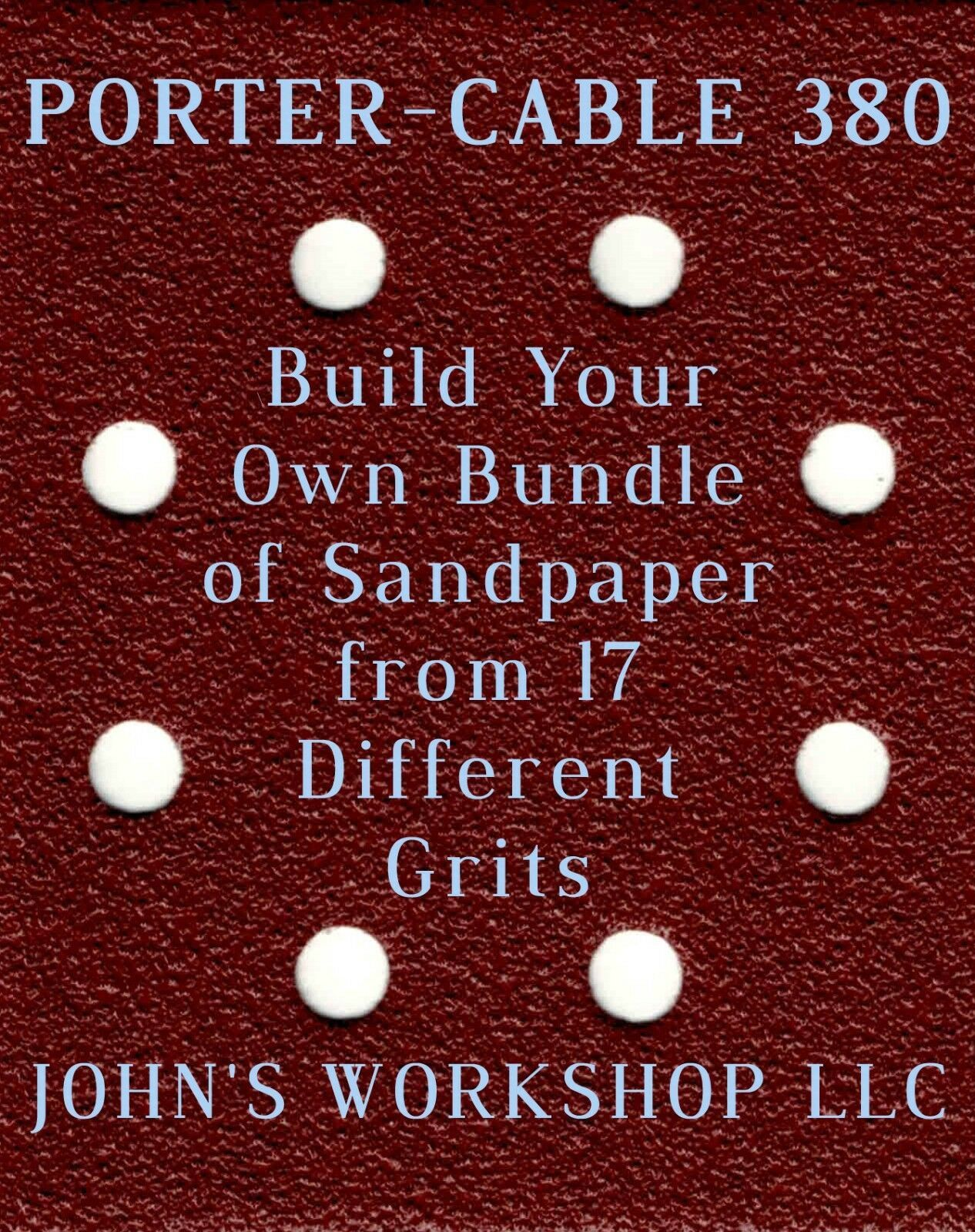Primary image for Build Your Own Bundle PORTER-CABLE 380 1/4 Sheet No-Slip Sandpaper - 17 Grits!
