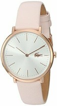 Lacoste Women's Quartz Gold and Leather Watch, Color:Pink (Model: 2000948) - $144.93