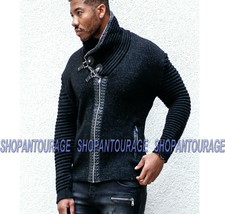 Young Republic NEW L/S Shawl Knit Cardigan Sweater Zip Jacket for Men - $91.93