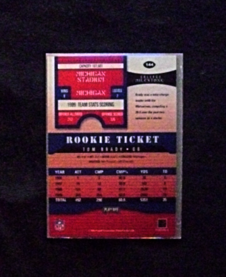 2000 Playoff Contenders Rookie Ticket Auto #144 Tom Brady [] Mini (RC) RP