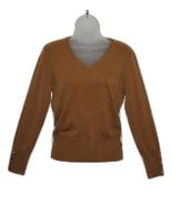 Womens Long Sleeve Lightweight Knit Sweater V-Neck Suede-Color JM Collec... - $10.15