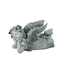 "Northlight 7.5"" Distressed Gray Daydreaming Angel Cherub Outdoor Garden ... - $16.57"