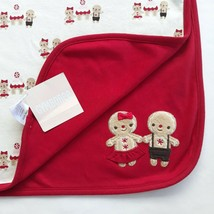 NWT Gymboree Gingerbread Girl & Boy Reversible Holiday Baby Blanket 2011 - $44.99