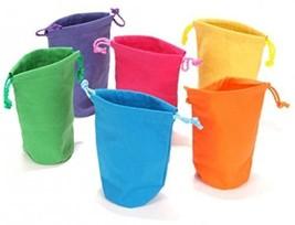 Dozen Bright Color Canvas Drawstring Bags - $10.57