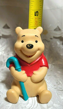 "Vintage Winnie the Pooh with Blue Cane Plastic Figurine 4"" Tall image 2"