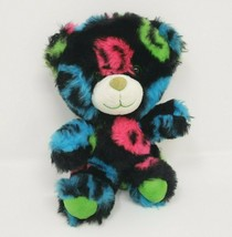 """6 """"building a bear smallfrys black with pink/peace sign plush blue - $18.50"""