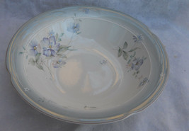 Mikasa Blue Blossoms Vegetable Serving Bowl Dl 501 Stone Lustre Rare Floral - $16.82