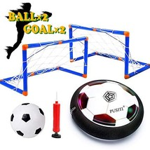 PUSITI Kids Hover Soccer Ball Set with 2 Goals Foam Bumper Air Ball with... - $25.97