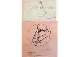 Stamping Bella Preggers Circle Unmounted Rubber Stamp #KS150