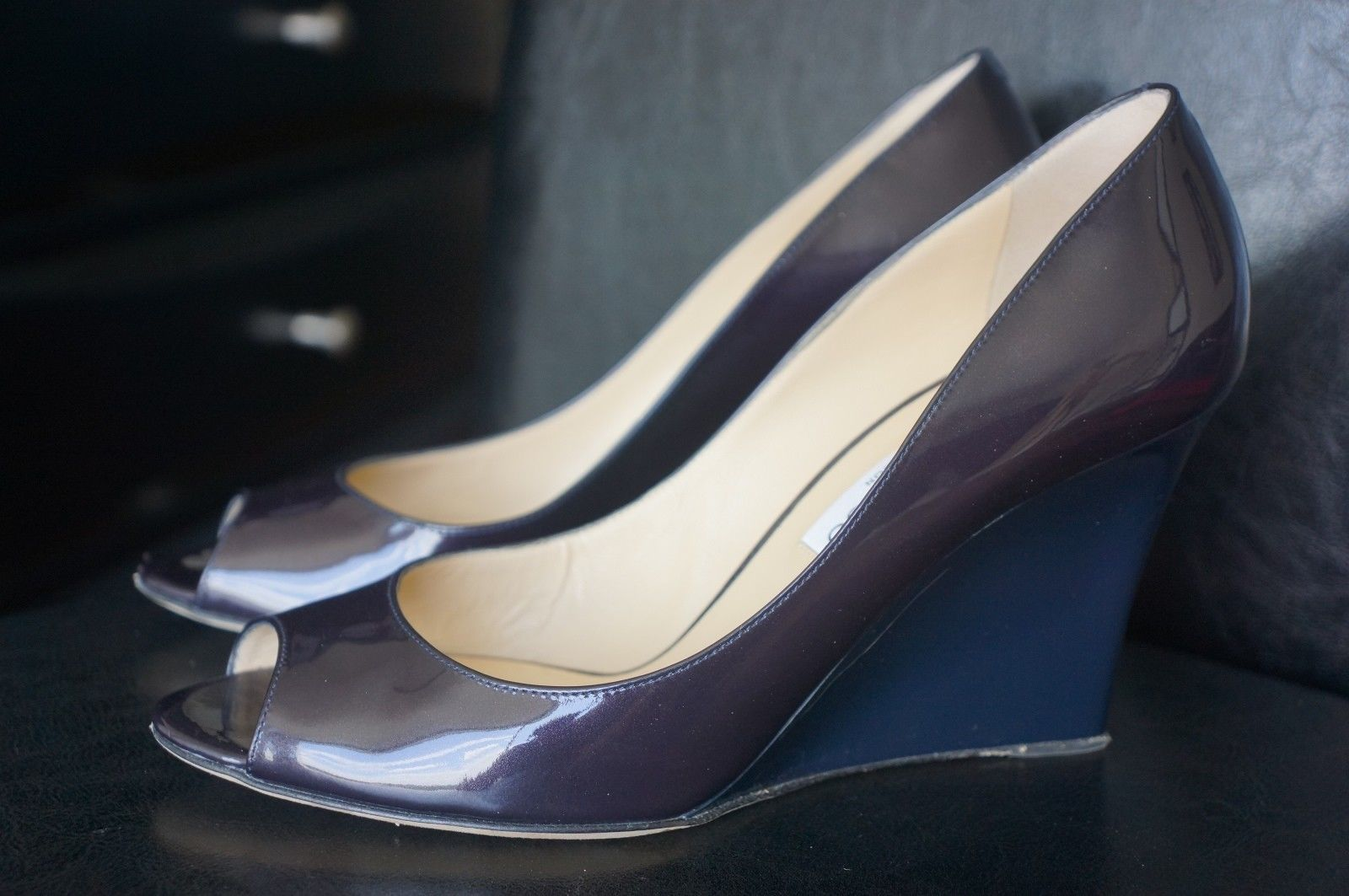 3eb40c816f3 Jimmy Choo Purple Navy Blue Patent Leather and 50 similar items