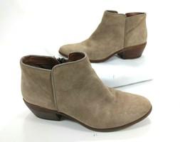 Sam Edelman Petty Women's Beige Suede Leather Booties Ankle Boots Sz 7 M 37 - $29.65