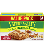 Nature Valley Oatmeal Squares, Cinnamon Brown Sugar, 12 Ct Value Pack - $10.00