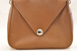 HERMES Christine Shoulder Bag Leather Brown Auth 5676 image 2
