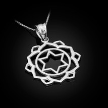 Sterling Silver Anahata (Love) 4th Chakra Womens Yoga Pendant Necklace - €16,22 EUR+