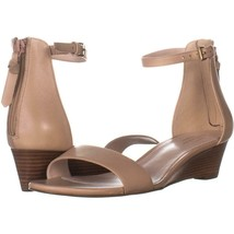 Cole Haan Adderly Wedge Ankle Strap Sandals 513, Nude, 8.5 US - $62.39