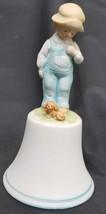 Bell Robbie Boy & Dog Puppy Holly Hobbie Porcelain  American Greetings - $9.50