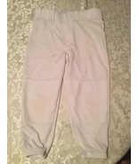 Rawlings Baseball Softball pants Boys Girls Youth Large white sports  - $7.29