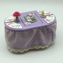 Mattel Loving Family Dining Table 2001 Changing Dinner Meal on Top - $14.92