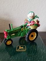 ENESCO  Masterpiece Editions 1998 John Deere Mrs. Claus Model B Tractor ornament - $38.99