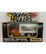 Vintage NIB New Matchbox Preston Trucking F800 Van Highway Haulers. Shel... - $14.01
